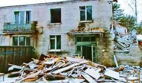 Демонтаж общежития